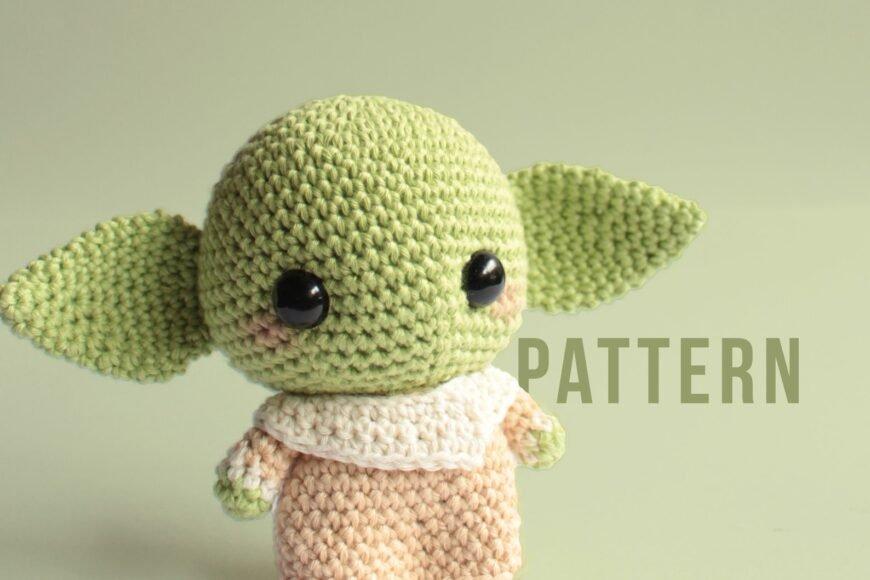 Horgolt Star Wars Baby Yoda minta