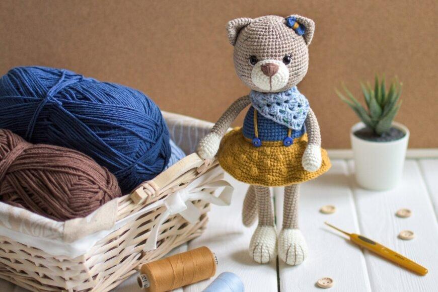 Horgolt Berta Kitty cica minta